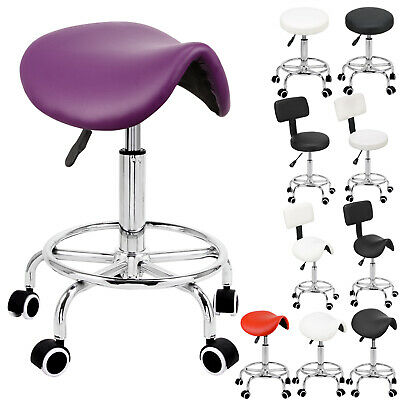 Salon Stool Barber Chair Massage Hairdressing Tattoo Spa Swivel Hydraulic Lift