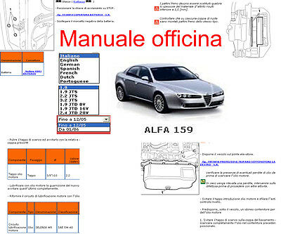 manuale officina alfa romeo 159 workshop manual service. Black Bedroom Furniture Sets. Home Design Ideas