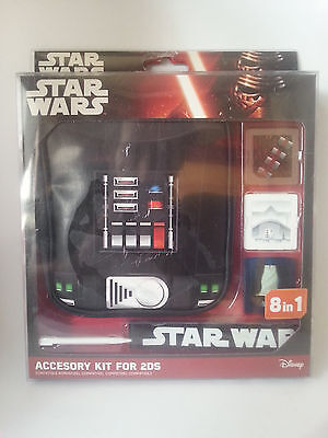 8 in 1 Accesory Kit for Nintendo 2DS (Star Wars, Disney, Indeca) New
