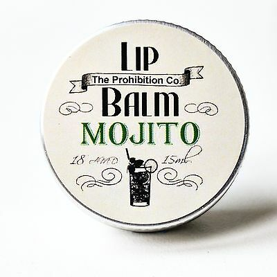Mojito Lip Balm, cocktail Lip Repair by The Prohibition Co.  Great Gift!