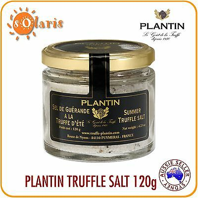 Authentic French PLANTIN Summer Truffle Salt 120g with Real Tuber Aestivum