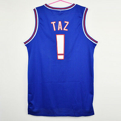 4caa6706f4a SPACE JAM JERSEY Tune Squad White TAZ Movie Basketball Size Shirt ...