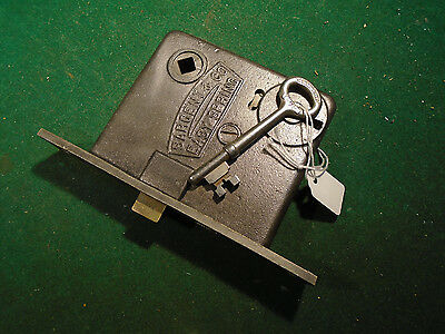 VINTAGE SARGENT BRASS MORTISE LOCK -EASY SPRING w/KEY, RECONDITIONED (8833)
