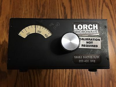 Lorch Tunable Bandpass Filter 200-400 MHz