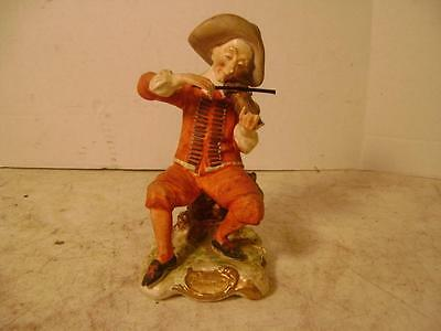 Vintage Arnart Creation Porcelain Man Playing the Fiddle/Violin Made in Japan