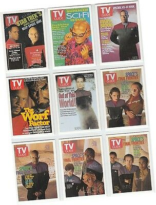 "Quotable Star Trek Deep Space Nine DS9 - 9 Card ""TV Guide Covers"" Set TV1-9"