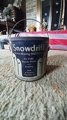 vintage metal can Snowdrift shortening Wesson oil New Orleans LA