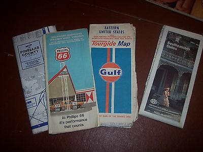 Nice old time 1980's Road Maps