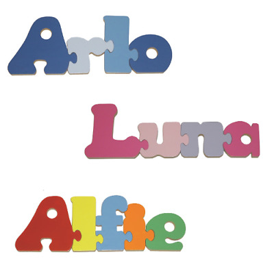 Personalised Childrens Name Jigsaw Puzzle Wooden  - Boys and Girls names