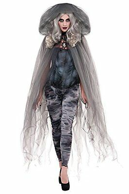 Adults Zombie Ghost Stories Cape Halloween Womens Ladies One Size Hooded Cloak