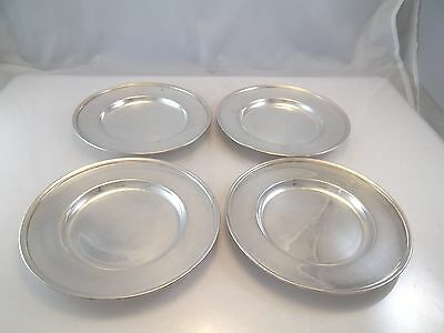 Set Of 4 Matching Bread & Butter Plates Silver Plate Dessert Plates 1847 Rogers