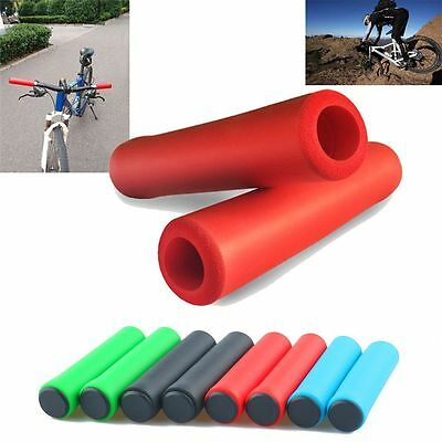 Silicone Ultra-Light Silica Gel Bike Handlebar Grips Bicycle Antiskid