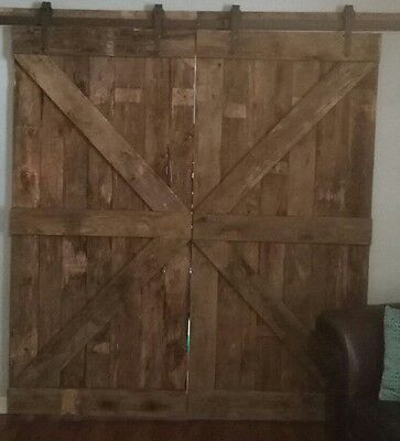 Reclaimed Oak Barn Doors 6 ft 78 wx84h authentic