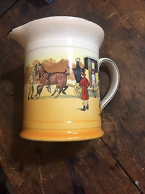 Royal Doulton Coaching Days Jug, D2716, Earthenware, 1906