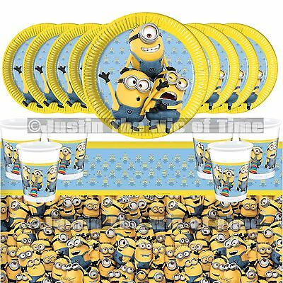 Despicable Me Minions Plates Cups Napkins Tablecover PARTY KITS 8 - 40 Guests