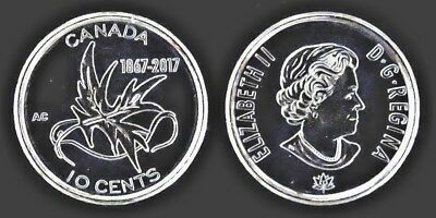 Canada 2017 150th My Inspiration 10 Cent Circulation Coin - WINGS OF PEACE