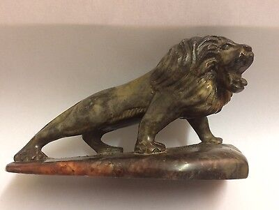 Antique Chinese Signed Carved Stone Lion,