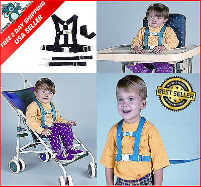 BabyBuddy Deluxe Security Harness Child Kid Safety Leash Chair Tether Strap Navy