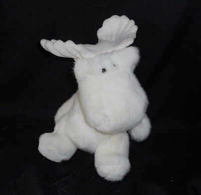 Vintage Sears Windsor Collection Milton The Moose White Stuffed Animal Plush Toy