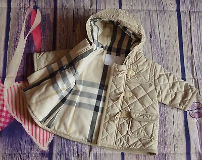 Burberry Baby Boy Or Girl Designer Diamond Quilted Coat 6 Months Immaculate
