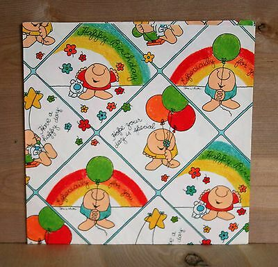 1978 Tom Wilson ZIGGY WRAPPING PAPER American Greeting Corp. ONE SHEET 29x20 VG
