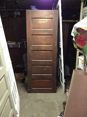 Antique 5 panel door Architechtural Salvage 76.5 x 27.75