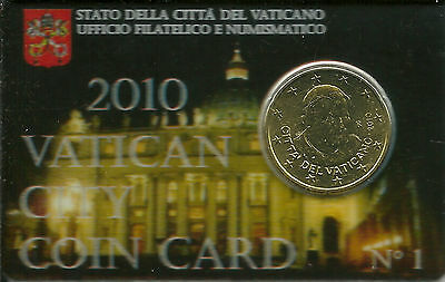VATICAN CITY -  Pope Benedict XVI 50 Euro-Cent Coin, in Card. GREAT ITEM!