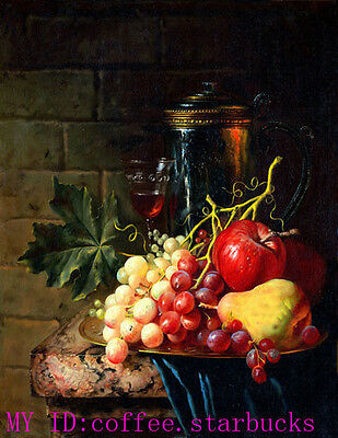 """Art Repro oil painting:""""Fruit still life at canvas"""" 24x36 Inch #003"""