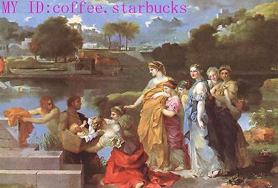 """Art Repro oil painting:""""The Finding of Moses at canvas"""" 48x72 Inch"""