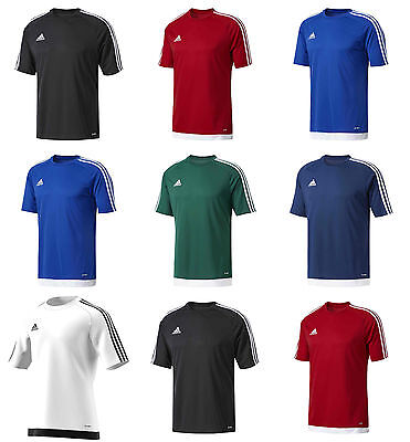 Adidas Mens Sports Training Gym Football Estro Top Jersey T shirt Tee Climalite