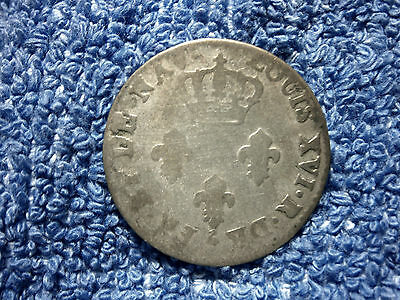 Mauritius & Reunion:  Very Scarce 3 Sols 1779-A Silver Billion Fine+!!