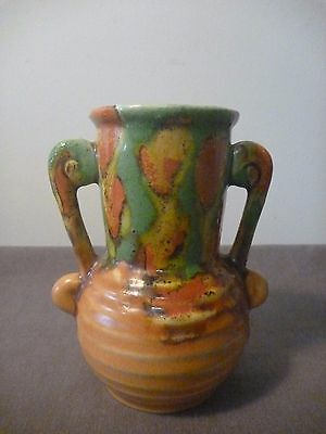 Shorter and sons Small double handled vase #334