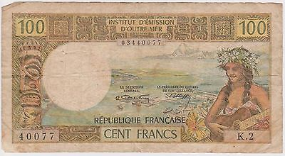 (N3-51) 1960s France/ Noumea 100f bank note (B)