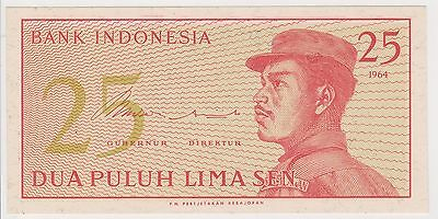 (N3-109) 1964 Indonesia 25 Sen bank note (R)