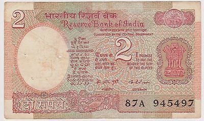 (N3-77) 1976 India 2 rupees bank note (C)