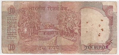 (N3-88) 1970s India 10 Rupees bank note (N)