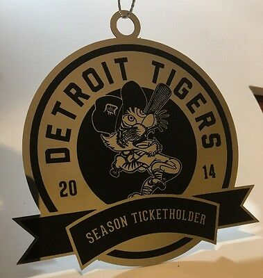 2014 Detroit Tigers MLB Chrome Ornament! - Season Ticket Holder + Christmas Card