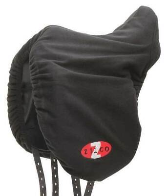 Zilco Horse Saddle Cover Protector - Fleece Black FREE POSTAGE