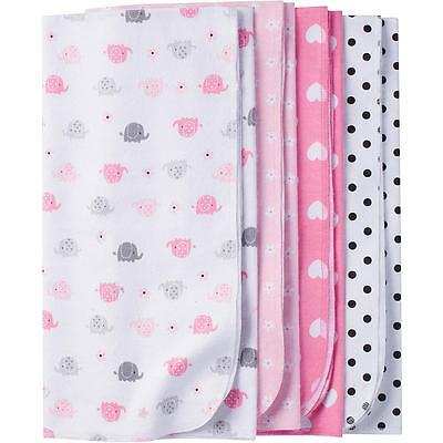 Gerber Baby Girl Blanket Pink Flannel Blankets Receiving 4 Pack Thermal Girls