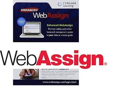Enhanced WebAssign Access Code Cengage-RSY (MATH & SCIENCE) Single Term