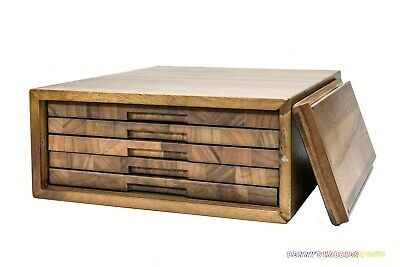 New Wooden Storage Box with Display Tray Handmade for NGC PCGS Slab Coin Holder