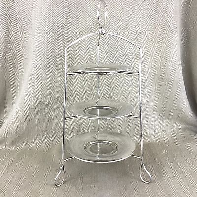 Antique Silver Plated Cake Stand 3 Tier Sheffield Plate  WATSON & GILLOTT