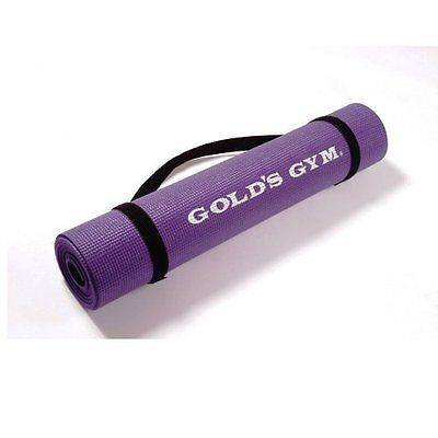 Gold's Gym Yoga Sticky Mat with Carry Straps - Purple