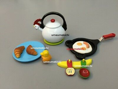 Megahouse dollhouse miniature kettle frying pan measuring spoons