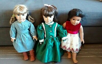 American Girl Doll 18 inches Lot of 3 Kirsten (Retired) Josefina Samantha