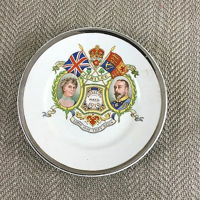 King George V & Queen Mary Silver Jubilee 1910 1935 Dish Pin Tray Coaster China