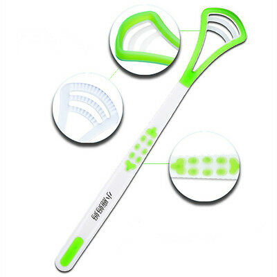 Color Random Dental Oral Hygiene Fresh Breath Tongue Scraper Cleaner Brush