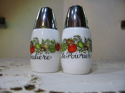 Vintage Salt and Pepper Shakers Gemco? Corningware?