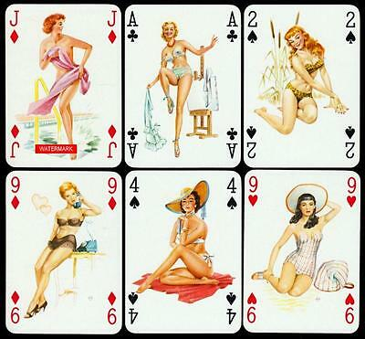 BABY DOLLS PIN UP Playing-Cards SPIELKARTEN 1950er Jahre