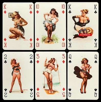 PIN UP 999 Playing-Cards SPIELKARTEN KARTENSPIEL 1940/50er Jahre PIN-UP Cards